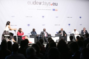 James Thuch Madhier takes notes during the Equitable Trade Panel, EDD15 Brussels