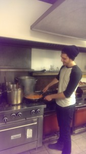 BSI member Magar Ghazarian making his famous cinnamon carrot dish at an outreach dinner